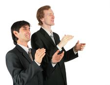 Free Two Applauding Businessmen Stock Images - 8071824