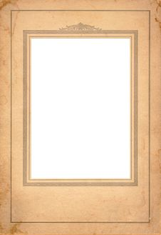 Free Antique Cardboard Frame Royalty Free Stock Photography - 8072387