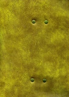 Gold Leather Texture With Rivet Stock Photo