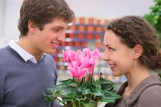 Free Pair In Flower Shop Stock Images - 8072874