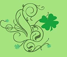 Free Swirls And Shamrocks Stock Photography - 8072902
