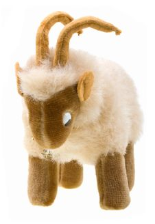 Free Little Goat Toy On White Background Stock Photography - 8072992
