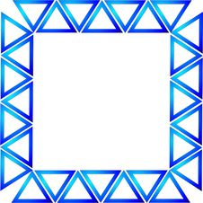 Free Blue And White Triangles Royalty Free Stock Image - 8073396
