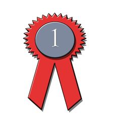 Free 1st Place Award Ribbon Royalty Free Stock Images - 8073649