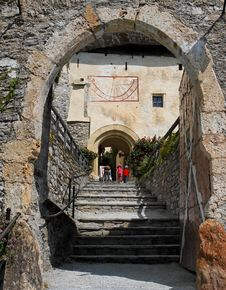 Arched Entrance To The Medieval Castle Royalty Free Stock Images