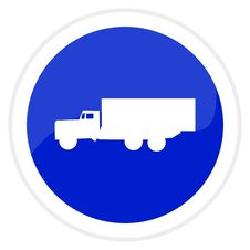 Truck Web Button Stock Photos