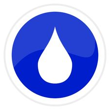 Free Web Button - Water Drop Royalty Free Stock Photo - 8074425