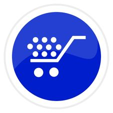 Shopping Cart Web Button Royalty Free Stock Photography