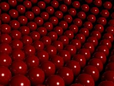 Red Reflective Balls Stock Image