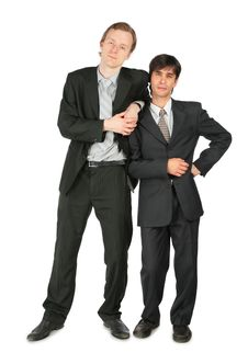 Free Two Businessmen Stands Royalty Free Stock Photo - 8074975