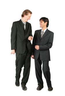 Free Two Friendly Businessmen Royalty Free Stock Images - 8074989
