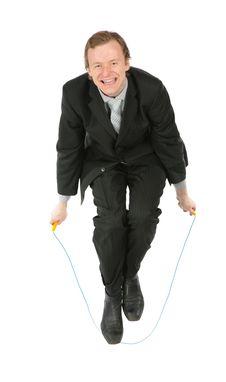 Free Jumping Businessman Royalty Free Stock Photo - 8074995