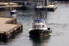 Free Tugboat By Aquarium Royalty Free Stock Photos - 8075018