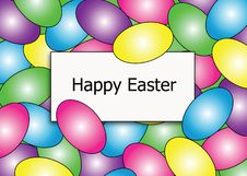 Happy Easter Egg Border Stock Photography