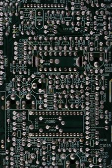 Microcircuit Board. Royalty Free Stock Image