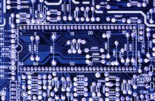 Free Microcircuit Board. Royalty Free Stock Image - 8075376