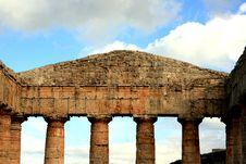 Greek Temple Columns, Sicily Stock Image