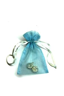 Treasure In A Blue Pouch Stock Image