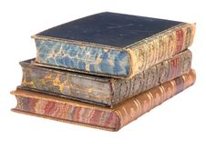 Free Pile Of Old Leather Bound Books Royalty Free Stock Photography - 8076147
