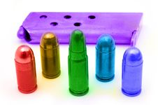 Free Colored Ammunition Royalty Free Stock Photos - 8076178