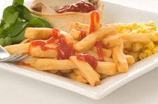 Free French Fries Royalty Free Stock Photos - 8076258