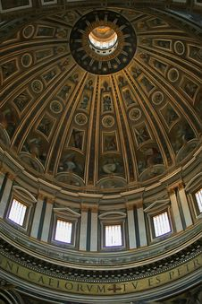 St. Peter S Basilica Dome Royalty Free Stock Image