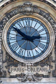 Free Paris - Orleans Clock Royalty Free Stock Photos - 8076408
