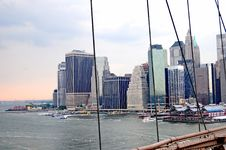 Free A Manhattan View From Brooklyng Bridge 4 Stock Photography - 8076432