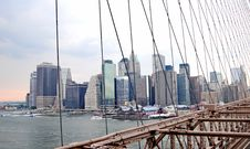 Free A Manhattan View From Brooklyng Bridge 5 Royalty Free Stock Image - 8076436