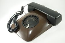 Free Old Brown Telephone Stock Photography - 8076762