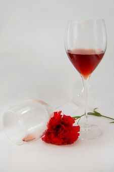 Free Glasses And Rose Royalty Free Stock Photo - 8077035