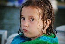 Free A Good Pout After A Swim Stock Image - 8077171