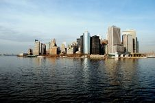 Free Manhattan S Financial District And Battery Park Royalty Free Stock Photography - 8077507