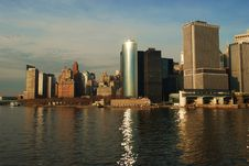 Free Battery Park And Downtown Manhattan Stock Photo - 8077510