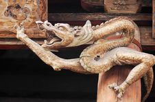 Free Ancient Wooden Dragon Stock Photos - 8077933