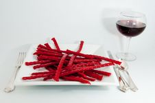 Free Red Licorice Dinner Stock Image - 8078001