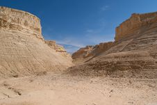 The Perazim Canyon Stock Image