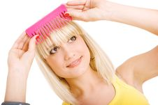 Free Girl With Comb Stock Photography - 8078232