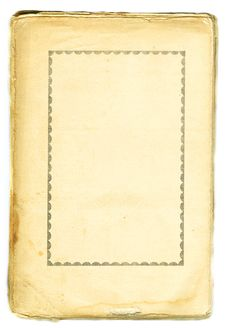 Antique Book Page Royalty Free Stock Photography