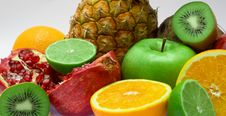 Free Group Of Fresh Fruits Royalty Free Stock Photos - 8078938