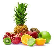 Free Group Of Fresh Fruits Royalty Free Stock Images - 8078939
