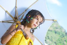 Free With Umbrella Stock Photo - 8079410