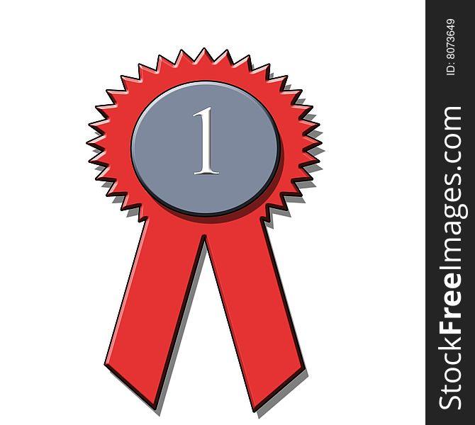 1st place award ribbon