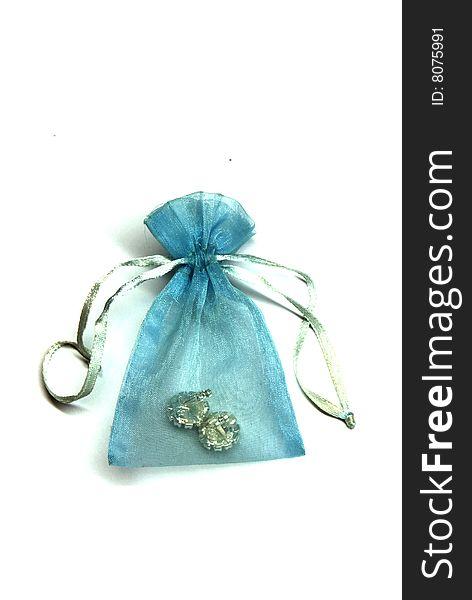 Treasure in a blue pouch