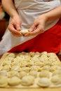Free Woman Making Russian Dumplings (pelmeni) Royalty Free Stock Photo - 8085755