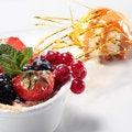 Free Fresh Berries With Ice Cream Stock Photo - 8086050