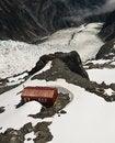 Free Mountain Hut And Glacier New Zealand Stock Image - 8088411