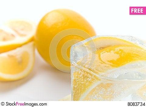 Soda water and lemon Stock Photo