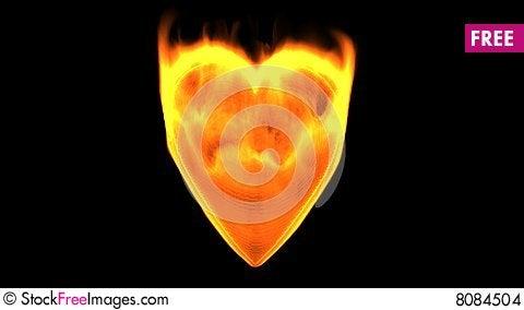 Flaming heart 2 Stock Photo