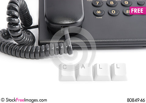 Free Just Call Royalty Free Stock Image - 8084946